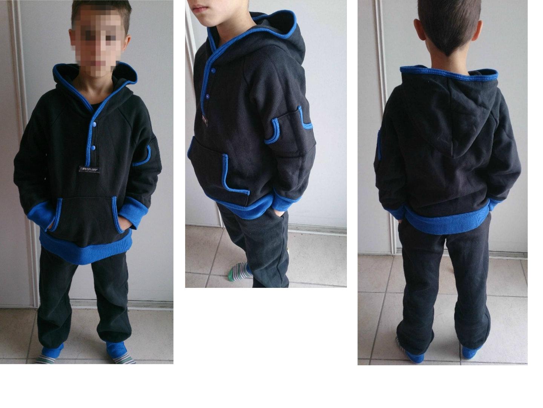 Le jogging noir & bleu