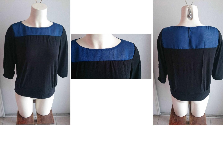 Le tee shirt noir & bleu