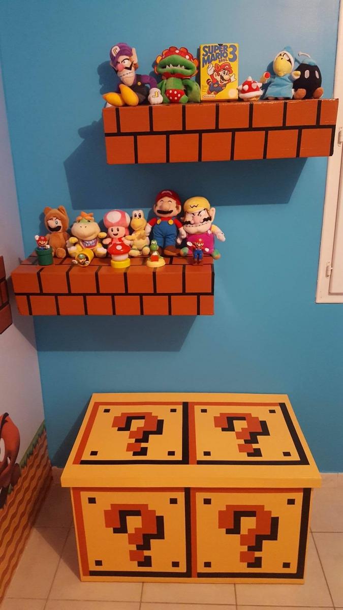 Déco de chambre sur le thème Mario - Homemade By Lulue